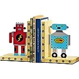 Serre-livres Robot Pour Enfants En Bois Pour Pépinière Ou Chambre Pour Garçon Ou Filles, 1 Paire