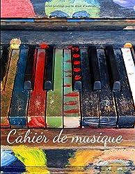 Cahier de Musique: Carnet de partitions - Papier manuscrit - 6 x 2 portées - Idéal pour le piano, les duos d\'instruments... - format : 21 X 28 CM -100 Pages (French Edition)