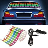 WONFAST Sound Music Beat Activated Car Sticker Equalizer Rhythm LED Flash Light Audio Voice Rhythm Lamp (90x25cm)