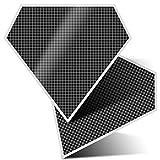 2 pegatinas de diamante de 10 cm, diseño de cuadros de tartán divertidos adhesivos para ordenadores portátiles, tabletas, equipaje, chatarra, nevera, regalo fresco #37913