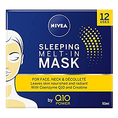 NIVEA Q10 Power Sleeping Melt-In Anti-Ageing Face Mask (50ml), Anti Wrinkle Cream with Powerful Creatine, Leave Full Face Mask On Overnight for Beautiful Looking Skin from Beiersdorf Uk Ltd