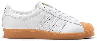 adidas Originals Superstar 80s DLX Mens Trainers Sneakers (UK 9 US 9.5 EU 43 1/3, White Gold Metallic S75830)