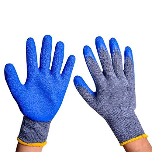 BBRR - Guantes de trabajo con revestimiento de poliuretano, multifunción, de látex, antiarrugas, gruesos, resistentes al desgaste, guantes antideslizantes (12 pares)