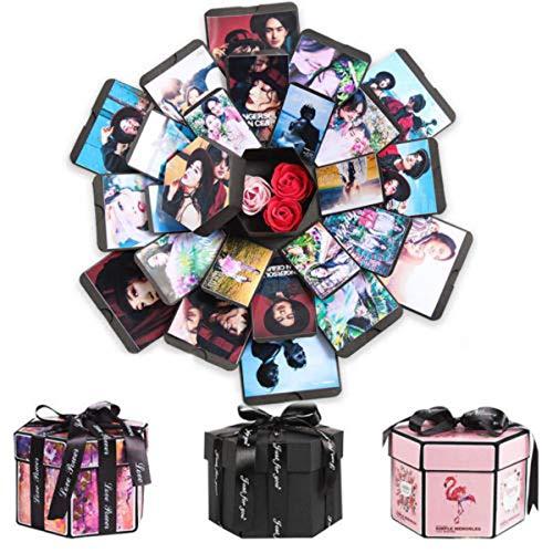 Hailouhai Creatieve verrassing explosie doos, DIY Gift Scrapbook en Foto Album voor Valentijnsdag/Verjaardag/Bruiloft