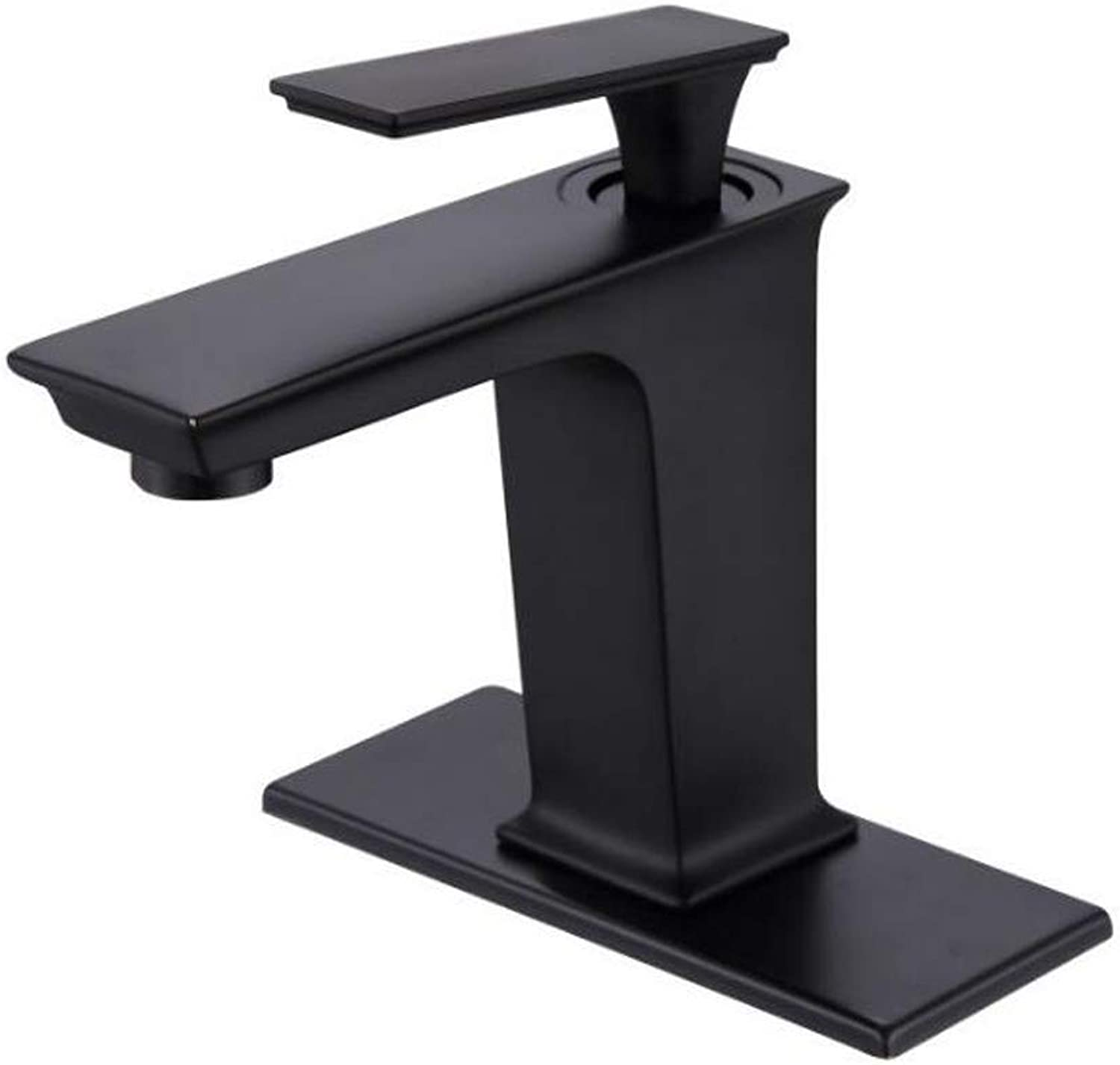 Bathroom Faucet,Black Bathroom Sink Faucet European Style All-Copper Antique Hot and Cold Water Brushed Plating Counter top Basin Mixer tap.