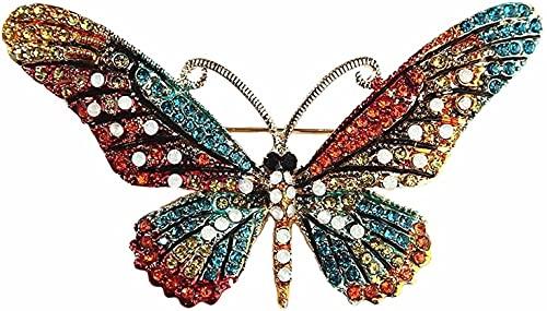 NZDY Broche de Moda Pin Colorido Rhinestone Mariposa Broches de Aleación de Zinc Esmalte Animal Pin de Mariposa Accesorios de Prendas de Vestir de Las Mujeres Broche de Novia Pin/Azul/Azul