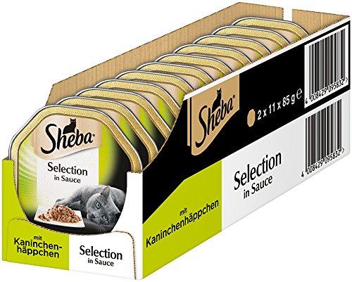 Sheba Selection in Sauce – Katzenfutter im Frischepack, 22 Schalen-2 x 11 x 85 g