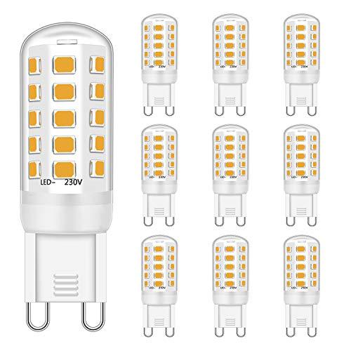 Brantoo G9 LED Licht Glühbirnen 3W Entspricht 28W 33W 40W Halogen Glühbirnen, Warmweiß 2700K, 430LM, CRI> 85, G9 Steckdose Energie sparen Lampe, kein Flimmern, nicht dimmbar, AC 220-240V, 10er Pack
