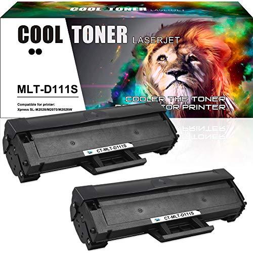Cool Toner Kompatibel Tonerkartusche Replacement für Samsung MLT-D111S D111S Patronen für Samsung Xpress M2070 M2070W M2070FW M2026W M2026 M2020 M2020W M2022 M2022W M2024 SL-M2070W SL-M2070,2 Schwarz