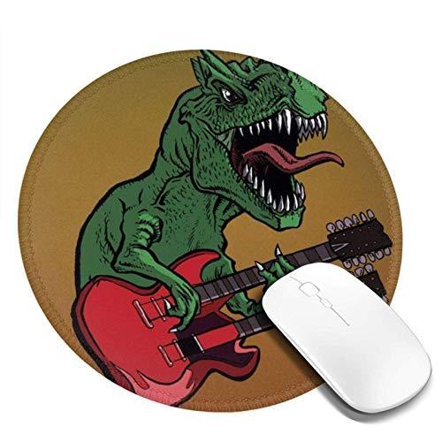 Alfombrilla de ratón lavable - Alfombrilla de ratón redonda de dinosaurios para...