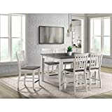 Picket House Furnishings Jamison Two Tone 7PC Counter Height Dining Set-Table & Six Chairs