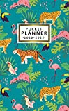 Pocket Planner 2020-2022: Cartoon Jungle Animals Three Year Organizer & Calendar with Monthly Spread View | 3 Year Diary & Agenda with Phone Book, ... Inspirational Quotes & Notes | Nifty Tiger