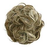 PRETTYSHOP XL Postiche Choucho Avoir Les Cheveux Relevés Volumineux Bouclé Chignon Mélange Blond Brun G32E