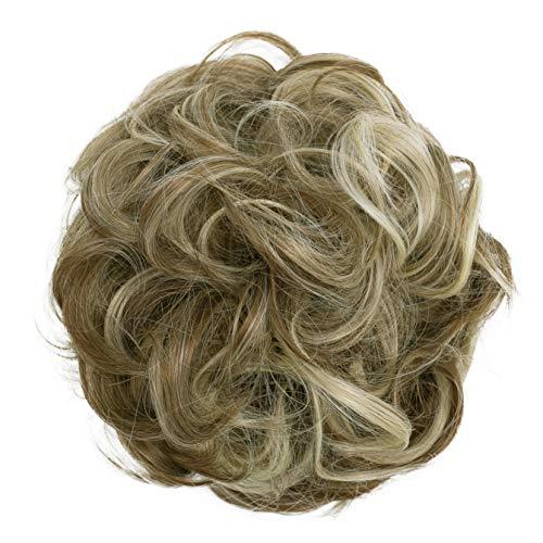PRETTYSHOP XL Haarteil Haargummi Hochsteckfrisuren Brautfrisuren Voluminös Gelockt Unordentlich Dutt Braun Blond Mix G32E