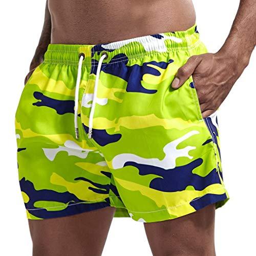 Meilily Camouflage Badeshorts für Männer Badehose Herren Jungen Schnelltrocknend Schwimmhose Strand Shorts Sweatshorts Urlaub Sommer Schnell Trocknend Hawaii Surf Sporthose Beachshorts Strandshort