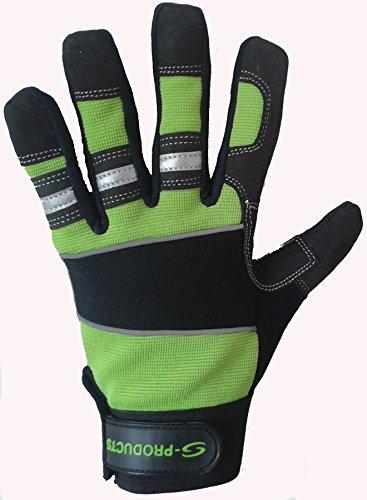 Main de sécurité Protection d'Entrepôt Ouvriers charpentier travail Jardinage Vert Gants de livraison gratuite au Royaume-Uni Taille S vert