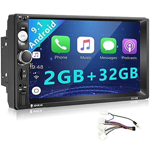 Android Radio de Coche 2 DIN 2GB + 32GB Car Stereo 7 Pulgadas Pantalla táctil WiFi Navegacion GPS Bluetooth Mirrorlink