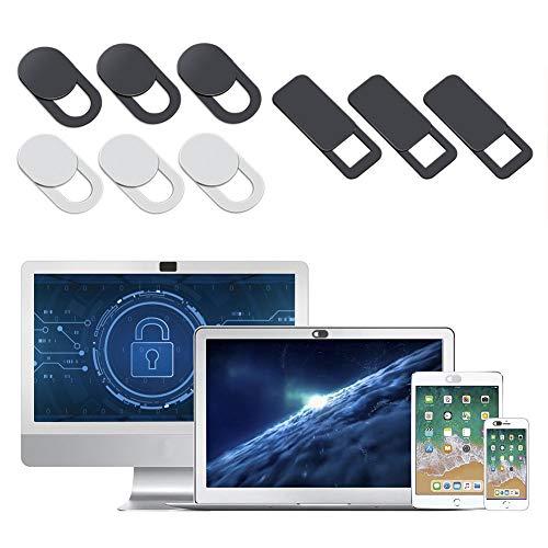 AJOXEL Webkameraskydd (9-pack), 0,02 cm supertunn integritetsskydd skyddar din integritet online webbkamera skydd glidskydd passar för MacBook Pro, bärbara datorer, dator, Macbook, iMac, iPad, surfplattor