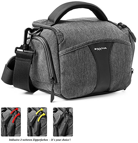 Optix Pro U6329 Universale Tracolla Neoprene Spalla Collo per tutte le fotocamere Reflex DSLR Bridge Nikon Nero Pentax Fujifilm Samsung Compatibile con Canon Panasonic Sony Olympus