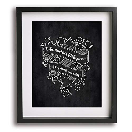 Janis Joplin wall art for fan with quote Joplin paper poster