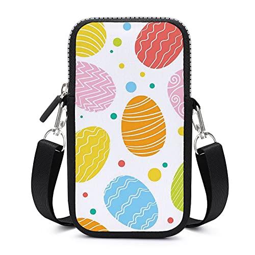 Bolso bandolera para teléfono móvil con correa de hombro extraíble huevo de Pascua Draw bolsa impermeable para llave de cintura cartera Yoga Bolsas unisex