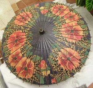 Antigua Sombrilla Parasol China en Papel - Old Umbrella of China Paper