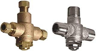 Powers Process Controls LFE480-10 Powers Under Counter Thermostatic Mixing Valve, 3/8 in. Compression, Rough Bronze, Lead Free-2470359