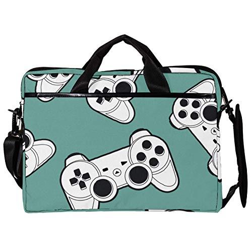 Vockgeng Joystick Gamepad 15 Zoll Laptop Schutzhülle Tasche, Ultrabook Notebook Tragetasche Handtasche Schulter Umhängetasche für MacBook Pro, MacBook Air