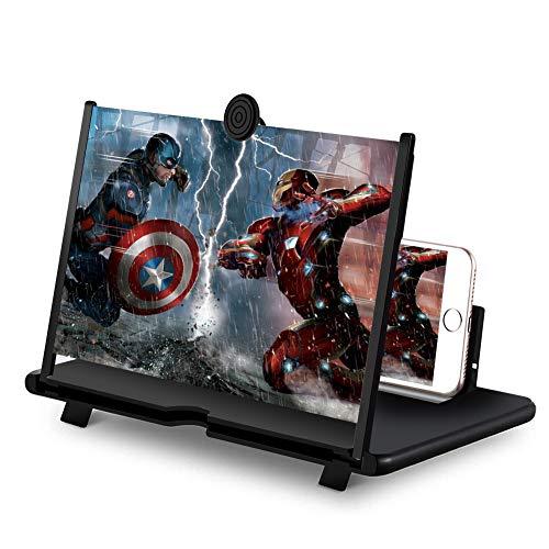 DCUKPST Lupa de Pantalla 3D para Teléfono -14'' HD Plegable Amplificador Pantalla...