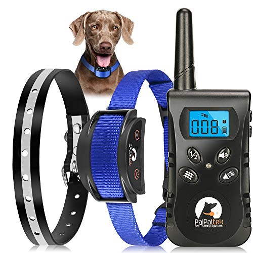 Paipaitek No Shock Dog Training Collar with Remote Vibration Beep Collar for Deaf Puppy Dogs Waterproof Rechargeable Humane Dog Widgets Training Collar