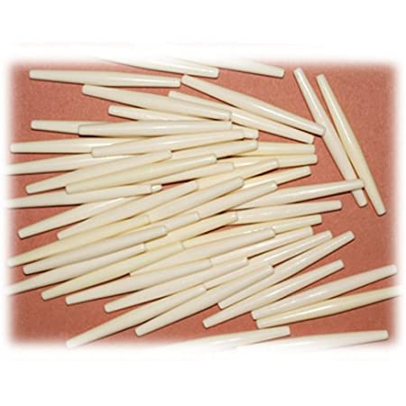 """Bone Hairpipe Beads 4/"""" White Pack of 4 Native American Jewelry or Crafts"""