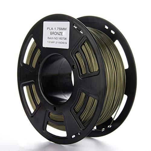 Durable de alta resistencia 1KG 3D Filamento PLA Suministros 1.75mm Impresora 3D Material de impresión de filamento para impresión 3D Pen Impresora 3D (bronce) Jasnyfall