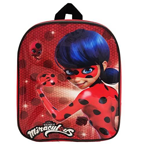 Nesloonp Mochila Ladybug, Mochilas Infantiles, Mochila para Niños y niñas Mochila Escolares Infantiles de Preescolar Primaria, Pequeñas Mochilas Bolsas Escolares de Dibujos