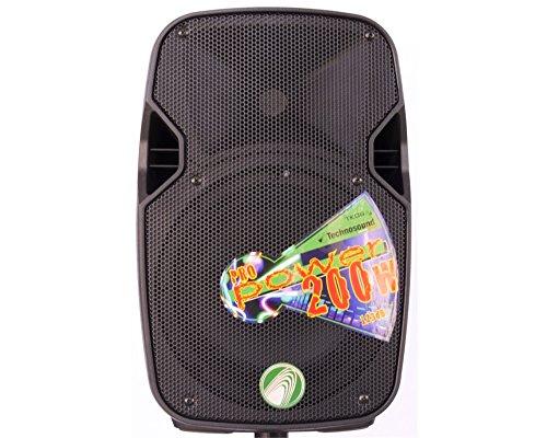 technosound TK08 A cassa attiva amplificata woofer 8 pollici 200w di picco per feste, pianobar ecc.