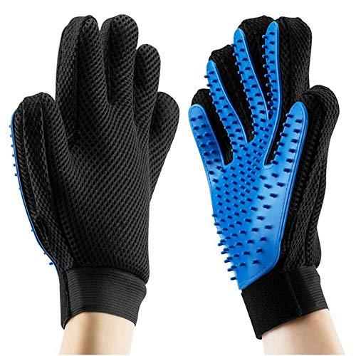 LHZTECH Upgrade Pet Grooming Glove - Efficient Deshedding Bathing Massage Hair Remover Gloves -...