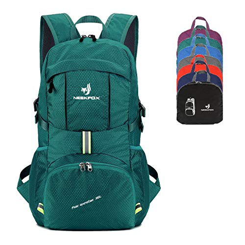 NEEKFOX Packable Lightweight Hiking Daypack 35L Travel Hiking Backpack, Ultralight Foldable Backpack for Women Men