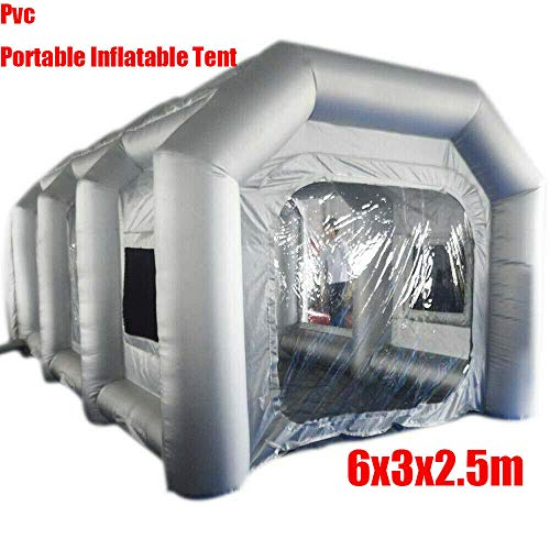 XYOUNG Inflatable Paint Booth,Inflatable Spray Booth Car Paint Room Large Spray Tent 20x10x8.2FT with Filter System DIY Paint Tent for Spray Paint Car Parking Tent Portable Garage