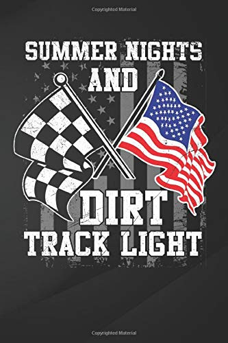"""Summer Nights: Summer Nights And Dirt Track Lights Moto Racing Notebook, Journal for Writing, Size 6\"""" x 9\"""", 164 Pages"""