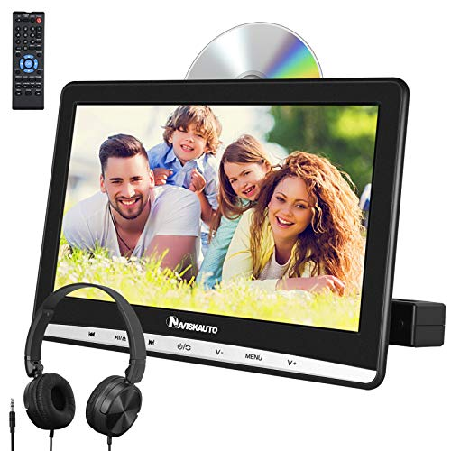 "NAVISKAUTO 12"" DVD Player Auto Slot In Tragbarer DVD Player Kopfstütz Monitor Bildschirm Memory TF USB AV In/Out 12V"