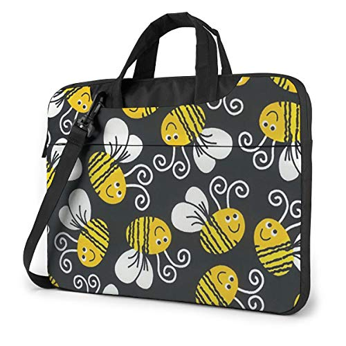NEPower Laptop Tote Bag, Cute Bumble Bees Portable Laptop Case Laptop Shoulder Bag with Handle for 13-15.6in Laptop for Men