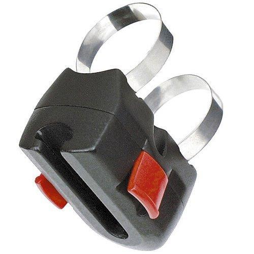 KLICKfix fietstas frameadapter met beugel accessoires, zwart, één maat
