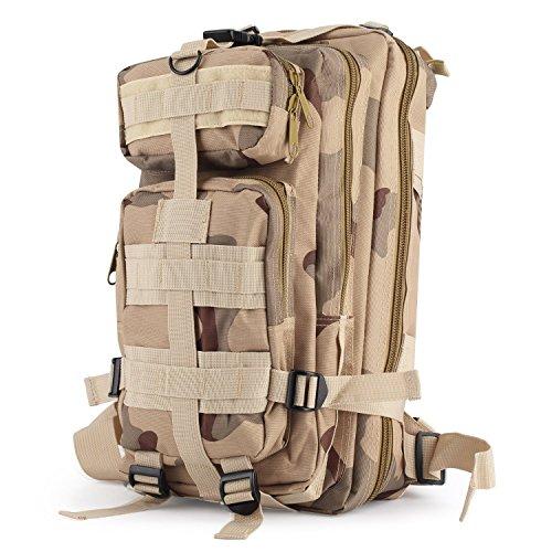 OUTAD Zaino Militare Tattico 30L in Oxford, 3P Zaino Molle Campeggio Escursionismo Zaino d'Assalto Bag, CP