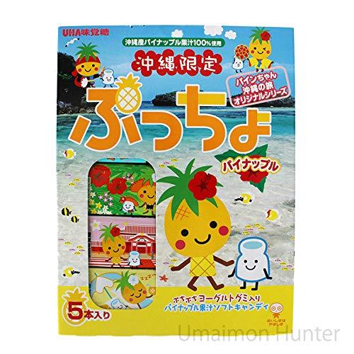 沖縄限定 ぷっちょ パイナップル味 5本入り×10箱 味覚糖 沖縄産パイナップル果汁100%使用