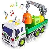 HERSITY Camión de Basura Coches de Friccion con Luces y Sonidos y...