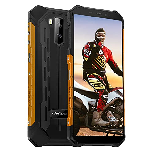 Ulefone Armor X5 Pro Rugged Cellulare, 4GB + 64GB Batteria 5000mAh IP68 Cellulare Antiurto, 13MP Fotocamera 5.5 Pollice HD Telefono Resistente, Dual SIM NFC OTG GPS-Arancione