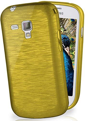 MoEx Cover di Protezione Samsung Galaxy Trend/Trend Plus Custodia Case Silicone Sottile 1,5mm TPU | Accessori Cover Cellulare Protezione | Custodia Cellulare Paraurti Cover Spazzolata Look Lime-Green