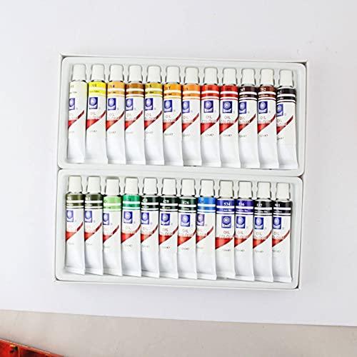 N\C Juego de Pintura al óleo de Tubo de 12 ml de 24 Colores, Pintura Profesional para niños, Pintura acrílica, Suministros de Arte adecuados para Principiantes y Artistas