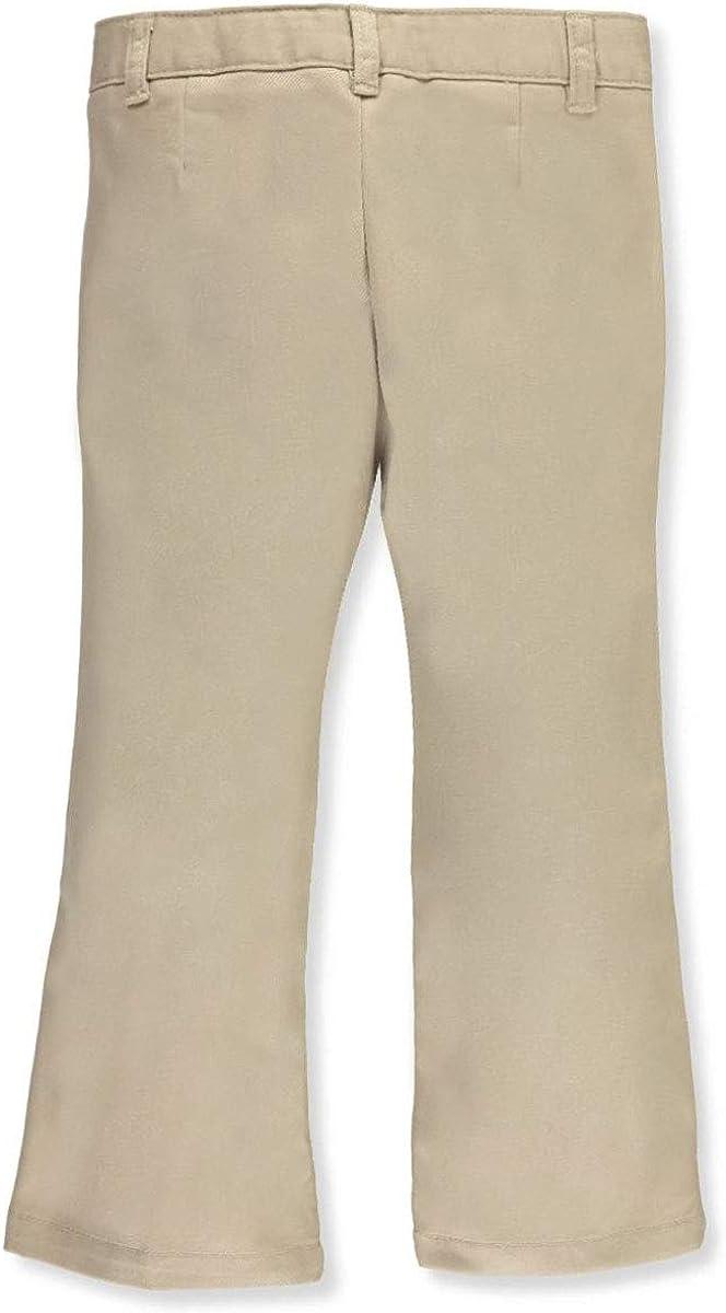 French Tucson Mall Toast Adjustable Waist Drop Max 51% OFF Khaki Flat Pants Front