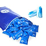 veook Soft Foam Earplugs 100 Pair - 34dB Highest NRR Disposable Comfortable Foam Individually Wrapped Ear Plugs Noise Reduction for Sleeping, Studying, Snoring, Work, Travel, Concert (Blue)