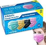 T&G: Quality Durables Unisex Adult 4-Pack Reusable Woven Face Mask with Adjustable Nose Wire